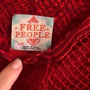 Free People Tops - Free People red long top / tunic